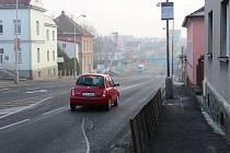 Křižovatka v Domažlické ulici v Klatovech.