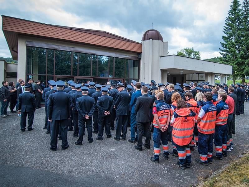 Poslední rozloučení s Michalem Svatošem v Sušici.