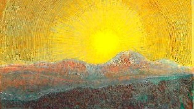 Josef Váchal, Západ slunce nad Javorem