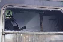 Požár vagónu v Alžbětíně