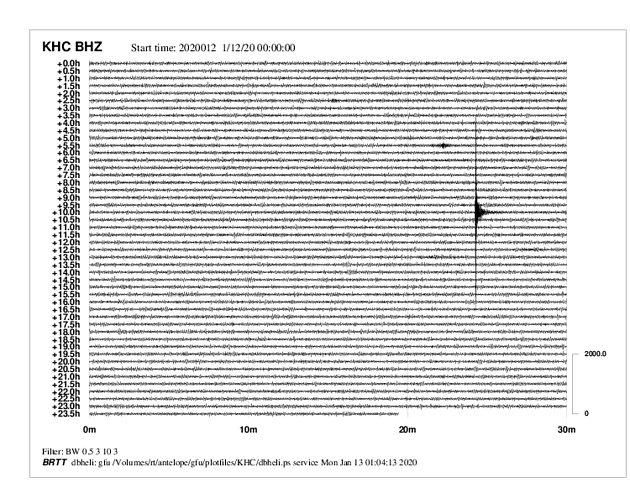 Zemětřesení je vidět na snímku ze seismologické stanice vKašperských Horách.