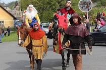 Oslavy 700. výročí narození Karla IV. ve Velharticích.