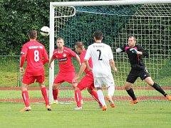 Předkolo MOL Cupu 2016/2017: Sušice (bílé dresy) - Klatovy 0:5