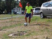 Třetí ročník fotbalgolfového turnaje s Arabelou v Hnačově ze známých osobností navštívili Antonín Panenka, Martin Maxa a Milan Pitkin