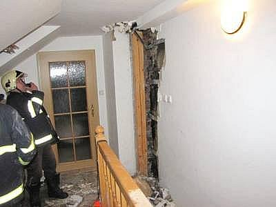 Požár rodinného domu v Sušici