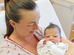Justýna Machalová zKašperských Hor (3490 g, 49 cm) se narodila vklatovské porodnici 25. srpna v16.44 hodin. Rodiče Veronika a Jirka přivítali svoji dceru na svět společně.