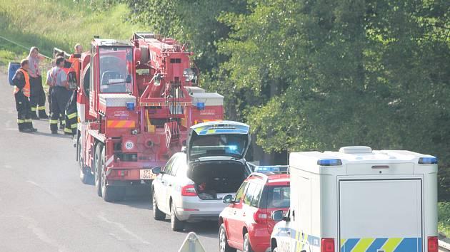 Nehoda u Slatiny na Klatovsku.