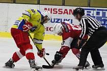 V přípravném utkání vyhrál SHC Klatovy (červené dresy) nad Kobrou Praha 6:5