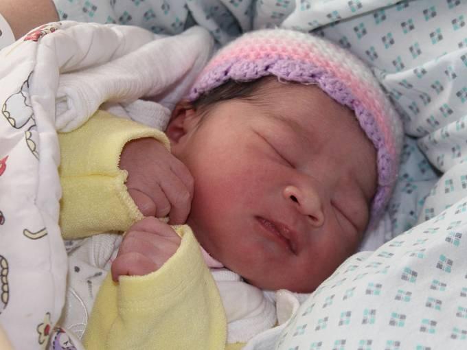 První miminko v Klatovské nemocnici roku 2017.