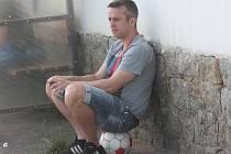 Trenér FK Horažďovice Michal Čadek.