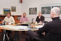 Setkání na Modravě, zleva Stanislav Bernard, David Albrecht, Antonín Schubert a Petr Fejk