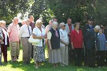 Vzpomínka na Miladu Horákovou v Hostašových sadech v Klatovech