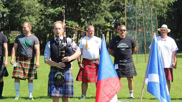 Skotské horalské hry ve Strážově 2020.