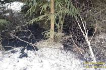 Nález neznámé látky v lese.