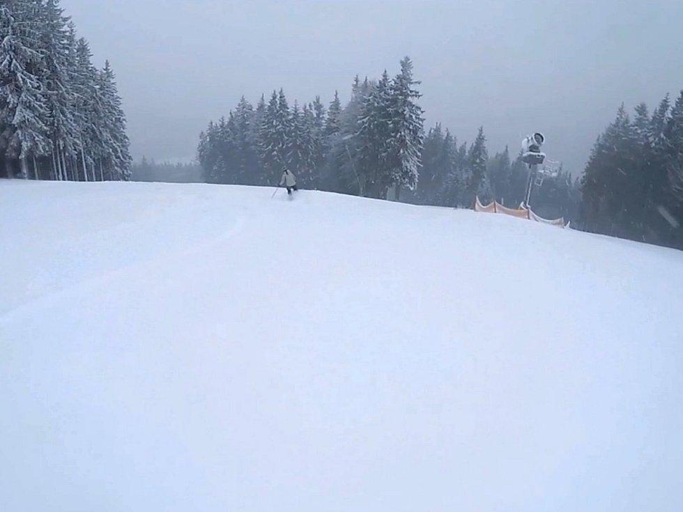Záběry z areálu Ski&Bike Špičák