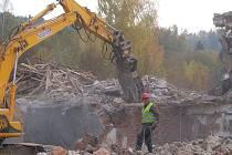 Demolice bývalých kasáren v Sušici