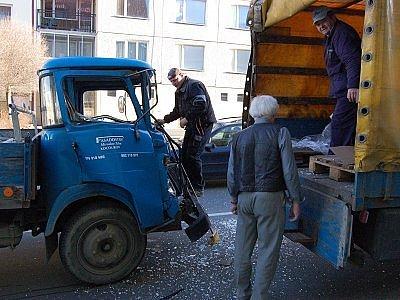 Nehoda dvou avií v Dobrovského ulici v Klatovech.