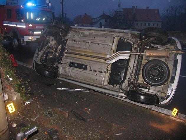 Dopravní nehoda u Červeného Poříčí
