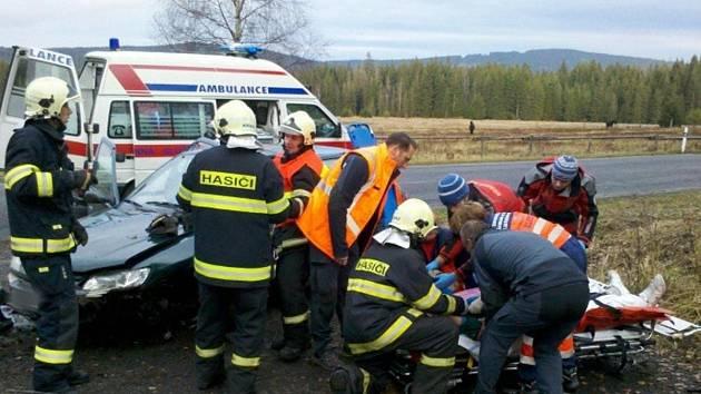 Dopravní nehoda v Železné Rudě