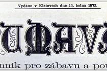 Ilustrační foto historických novin Šumavan.
