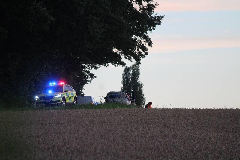 Nehoda balónu u Měcholup.