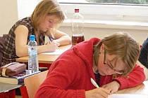 Písemná část maturity z češtiny na klatovském gymnáziu (4. A)