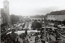 Výroční trh v Horažďovicích v roce 1927.