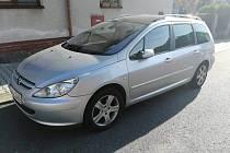 Ukradený vůz v Klatovech.