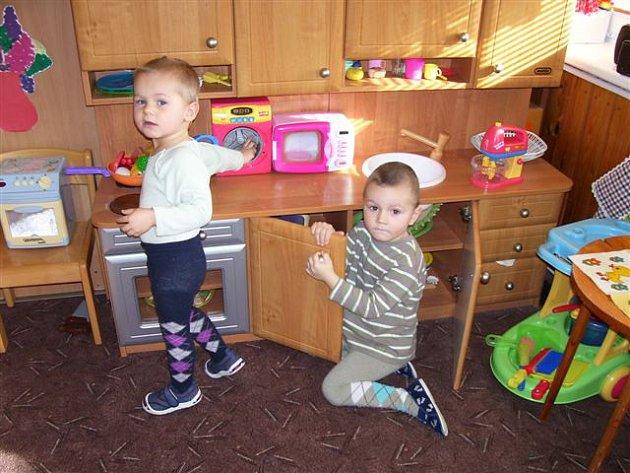 Děti ve školce v Borovech