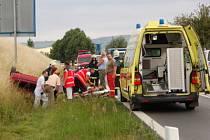 Dopravní nehoda u Štěpánovic, pátek 4.7.