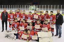 Vítězný tým HC Klatovy z bratislavského turnaje.