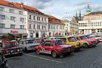 Cílová rampa 47. Rallye Šumava Klatovy.