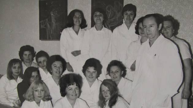 Klatovská nemocnice v 80. letech.