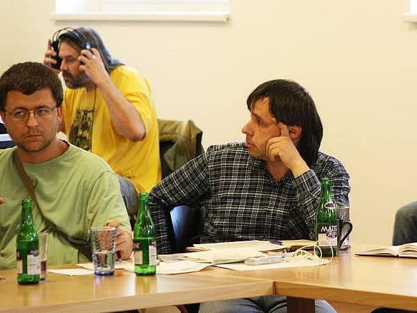 Jednání na Modravě, Vratislav Vozník (vlevo) a Jaromír Bláha