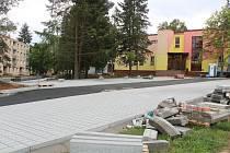 Druhá etapa revitalizace Podhůrčí v Klatovech.