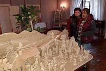 Výstava betlémů na zámku v Chudenicích.