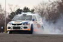 Petr Hozák se spolujezdcem Petrem Havlíčkem si se svým Mitsubishi Pražský Rallysprint užívali.