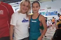 Andrea Nushartová s trenérkou Věrou Šlajsovou.