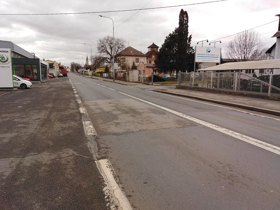 Strakonická ulice v Horažďovicích.