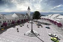 Takto by mohlo jednou vypadat náměstí v Horažďovicích.