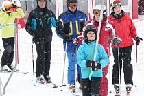 Nedělní lyžování na sjezdovce v Nýrsku