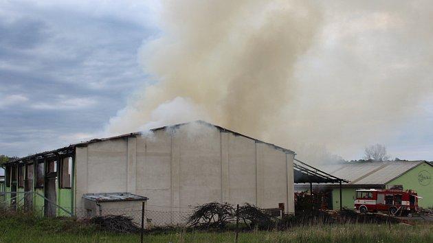 Požár v Plánici.