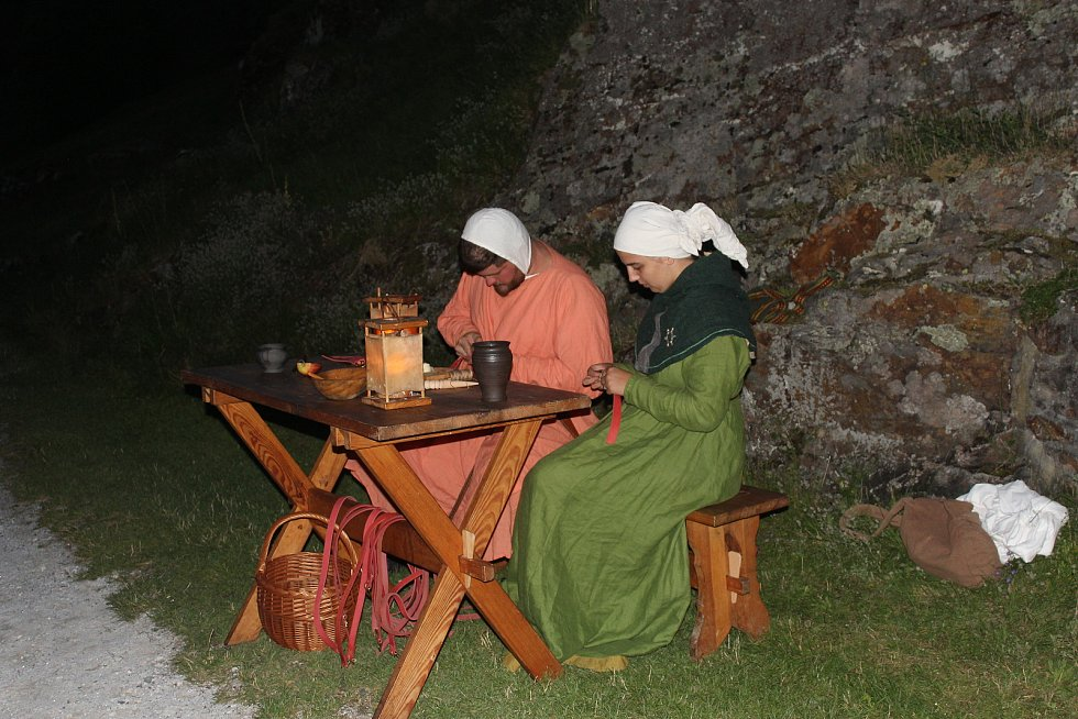 Ukázka středověkého života.