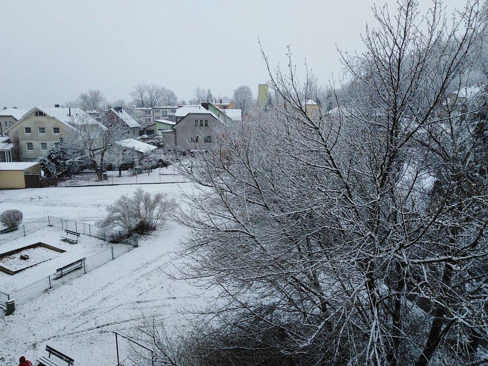 Sněhová nadílka v Klatovech.