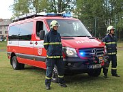 Oslavy hasičů v Kolinci.