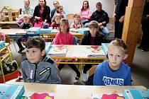 První školní den v Pačejově.