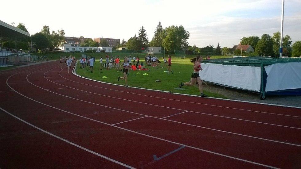 Klatovští atleti ve Stříbře.