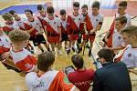 2. kolo Poháru Českého florbalu: Sport Club Klatovy (červenobílí) vs. SK Meťák České Budějovice 15:4.