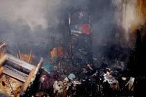 Požár domu ve Žďáru u Horažďovic