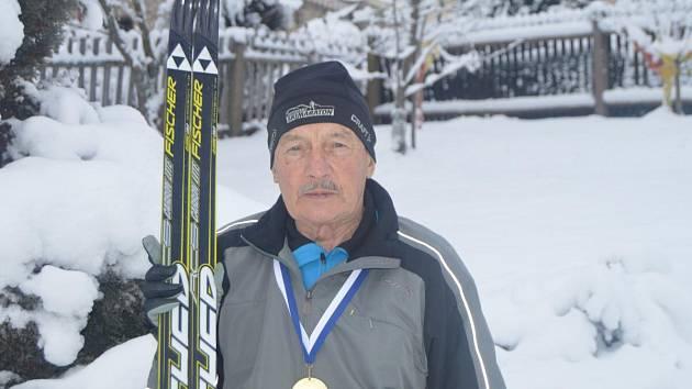 MISTR světa v kategorii veteránů nad 75 let na trati 15 km klasickou technikou Josef Růžička ze Železné Rudy